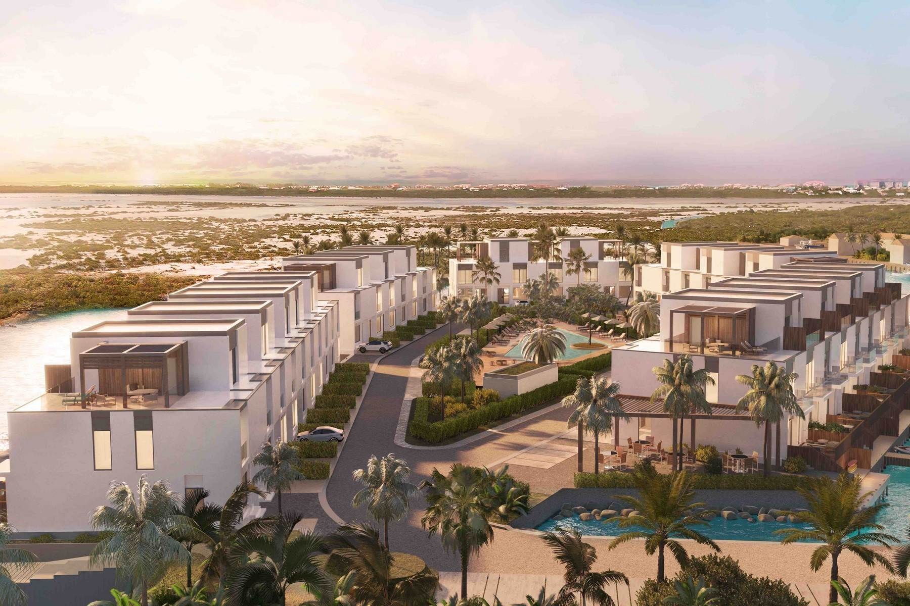 2. Condominiums for Sale at SOUTH BANK - BOATHOUSES - TWO BEDROOM PLUS ROOFTOP TERRACE - E1 South Bank, Long Bay, Providenciales Turks And Caicos Islands