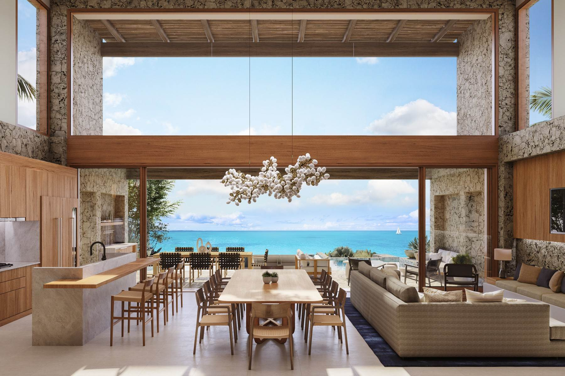 Single Family Homes pour l Vente à The Strand Turks & Caicos - Luxury Residence R-2 The Strand, Cooper Jack, Providenciales Îles Turques-et-Caïques