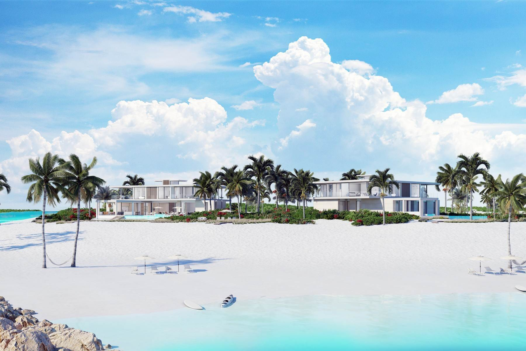 Single Family Homes por un Venta en The Peninsula at Emerald Estate - Beach House 1 Emerald Point Beachfront Leeward, Providenciales TKCA 1ZZ Islas Turcas y Caicos