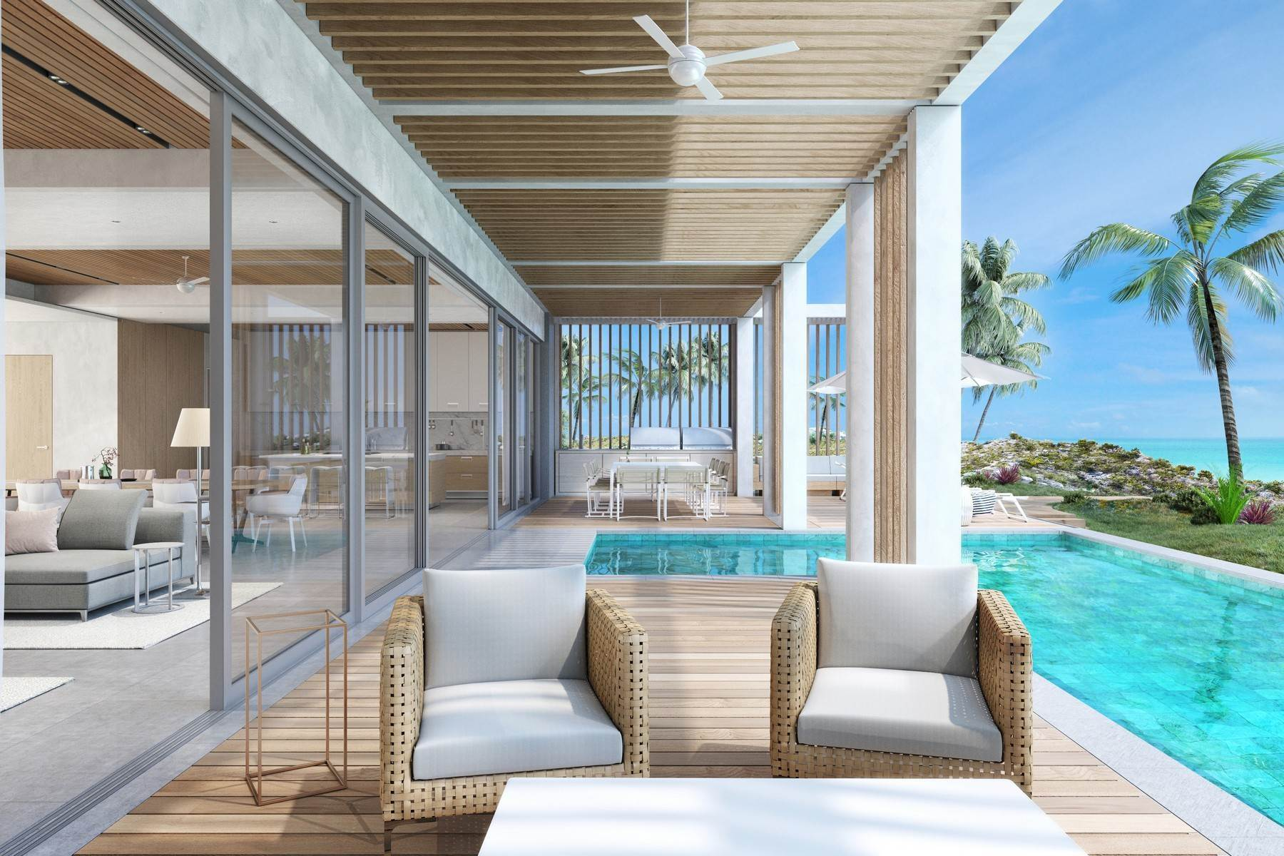 Single Family Homes por un Venta en LONG BAY BEACH DUNE VILLA AT SOUTH BANK - THE OCEAN ESTATE South Bank, Long Bay, Providenciales Islas Turcas y Caicos