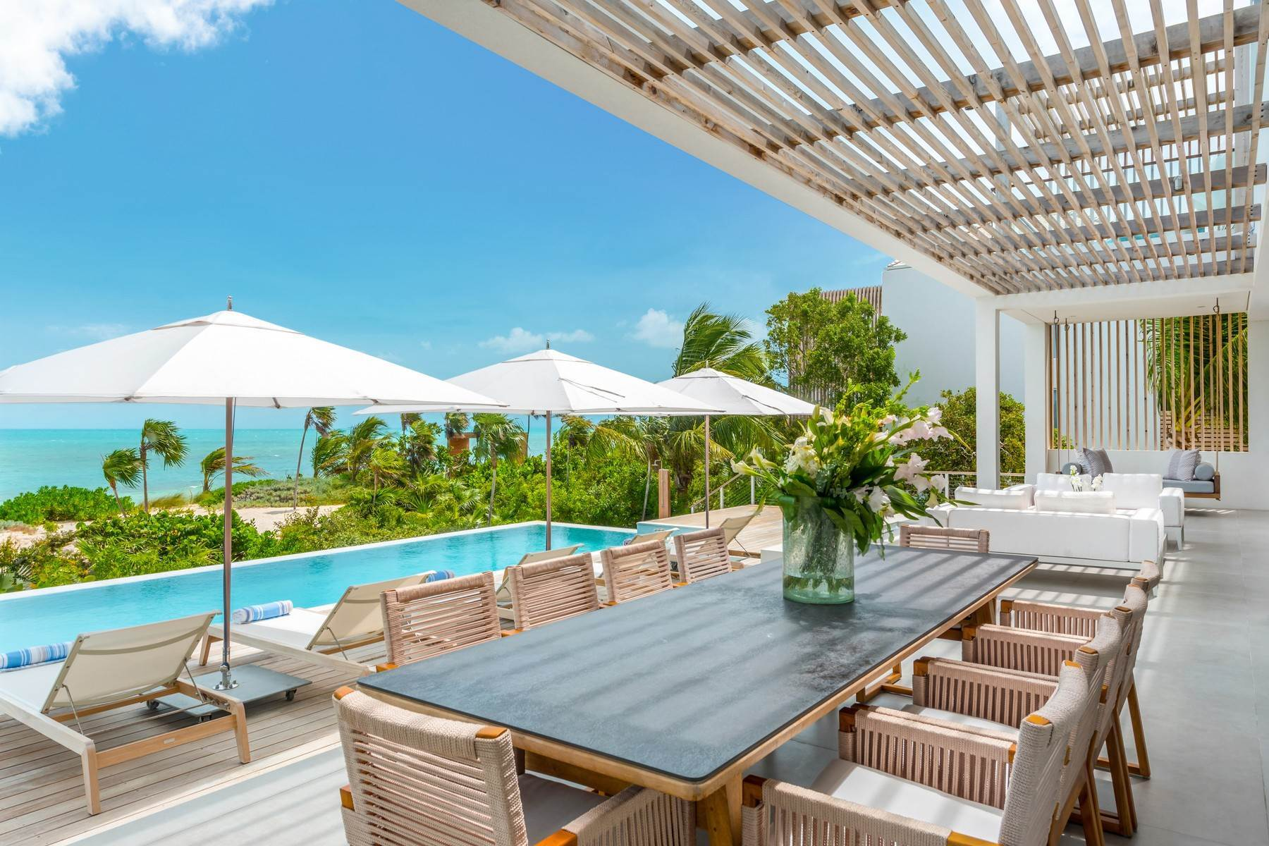 Single Family Homes at Beach Enclave Long Bay Beachfront Villa Rental Long Bay, Providenciales TC Turks And Caicos Islands