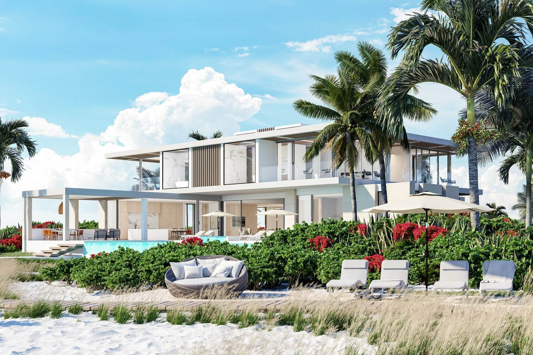 Single Family Homes por un Venta en The Peninsula at Emerald Estate - Beach House 3 Emerald Point Beachfront Leeward, Providenciales TKCA 1ZZ Islas Turcas y Caicos