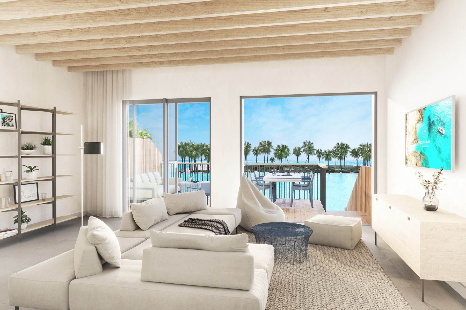 6. Condominiums for Sale at SOUTH BANK - BOATHOUSES - TWO BEDROOM PLUS ROOFTOP TERRACE - E1 South Bank, Long Bay, Providenciales Turks And Caicos Islands